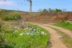 Люди загрязняют окружающую среду Стоковая Фотография RF