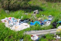 Люди загрязняют окружающую среду Стоковая Фотография