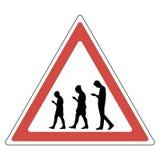 Люди знака с smartphone иллюстрация вектора