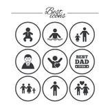 Люди, значки семьи Знак бассейна бесплатная иллюстрация