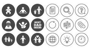 Люди, значки семьи Знак бассейна иллюстрация штока