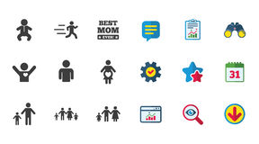 Люди, значки семьи Знак материнства Стоковые Фотографии RF