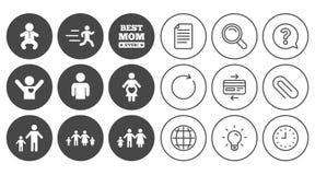 Люди, значки семьи Знак материнства Стоковая Фотография RF