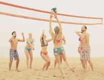 Люди играя beachvolley Стоковые Изображения