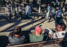 Люди играя boules Стоковое фото RF