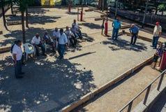 Люди играя boules Стоковая Фотография RF