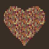 люди иконы сердца Стоковая Фотография