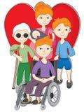 Люди инвалидности влюбленности Стоковое Изображение