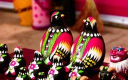 Люди искусства виска справедливые и утка мандарина ремесел Стоковая Фотография