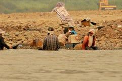 Люди ища золото Стоковая Фотография RF