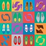 Люди и ботинки женщин иллюстрация штока