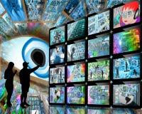 Люди и экраны Стоковые Фото