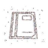 Люди идя в бумагу иллюстрация 3d перевод 3d Стоковые Изображения RF