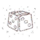 Люди идя в кость иллюстрация 3d перевод 3d Стоковое Изображение