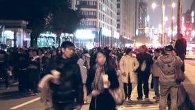 Люди каникул фотографии ночи в Тайбэе видеоматериал