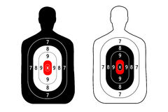 Люди контура цели стрельба вектор Спорт Стоковая Фотография