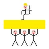 Люди концепции успеха иллюстрация штока