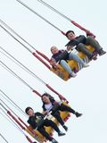 Люди которые большая возвышенность летания Стоковые Фотографии RF