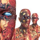 люди машины искусственного интеллекта Стоковая Фотография RF