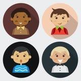 Люди мальчика 4 шаржа Стоковое Изображение RF