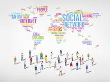 Люди мира с социальной концепцией сети стоковые фото
