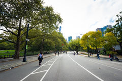 Люди наслаждаясь Central Park Стоковое Изображение RF