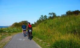 Люди на велосипеде Стоковое Изображение