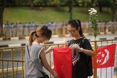 Люди на государственных похоронах Лее Куан Ыеш Стоковое Изображение RF