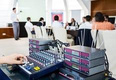 Люди на конференции стоковое изображение rf