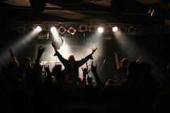 Люди на концерте стоковое изображение rf