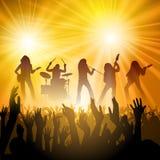 Люди на концерте иллюстрация вектора