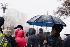 Люди на параде Стоковое Изображение RF