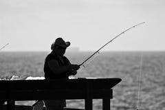 Люди на пристани в Калифорнии Стоковые Фото