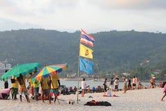 Люди на пляже Стоковое фото RF