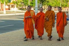 Люди на улице азиатской страны - Вьетнам и Камбоджа Стоковое Фото