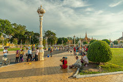 Люди на улице азиатской страны - Вьетнам и Камбоджа Стоковые Изображения RF