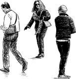 Люди на улице города Стоковое Фото