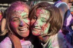 Люди на цвете бегут событие в милане, Италии Стоковое Фото