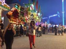 Люди на ярмарке Стоковое Изображение