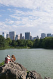 Люди на Central Park Стоковая Фотография