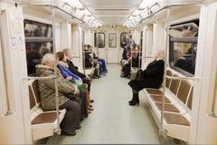 Люди на uderground Москвы Стоковые Фото