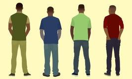 Люди от позади Стоковая Фотография RF
