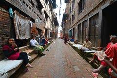 Люди от пригородов Katmandu живя в бедности Стоковые Изображения