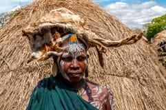 Люди долины Omo - племя Mursi стоковые фото