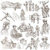Люди - пакет нарисованный рукой, coored линия искусство бесплатная иллюстрация