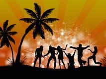 люди партии пляжа Стоковые Изображения