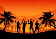 люди партии пляжа Стоковые Фотографии RF