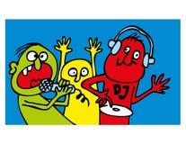 Люди партии смешные Стоковые Фотографии RF