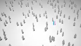 Люди потерянные в толпе стоковое изображение
