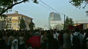 Люди поя Bella Ciao на парке Gezi акции видеоматериалы